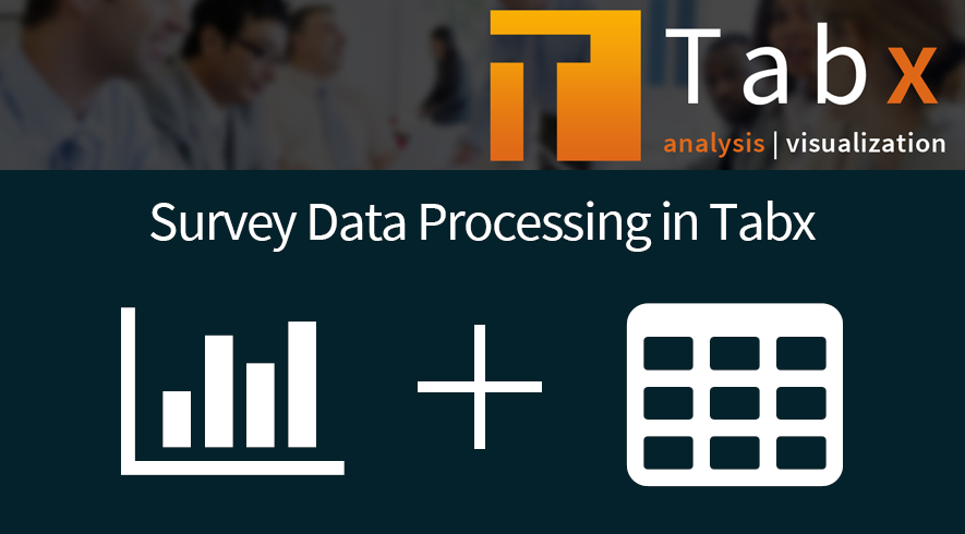 Survey Data Processing in Tabx